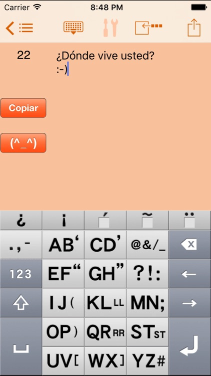 AEI Keyboard Note Spanish