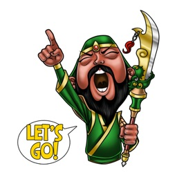 Guan Yu The Hero stickers by Choppic