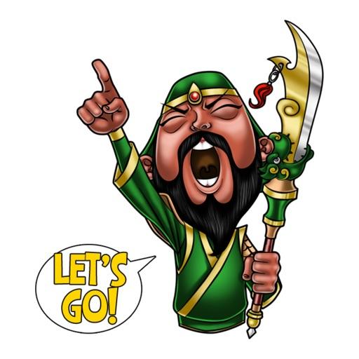 Guan Yu The Hero stickers by Choppic