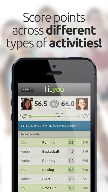 FitYou - Fitness Game and Activity Tracker screenshot-1