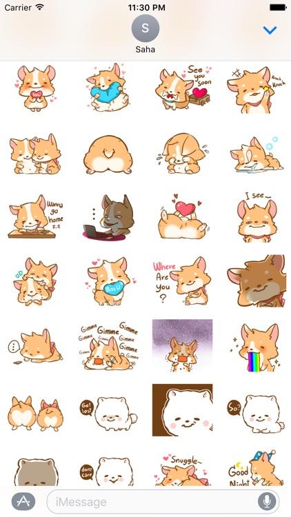 Corgi Dog - Pretty dog stickers