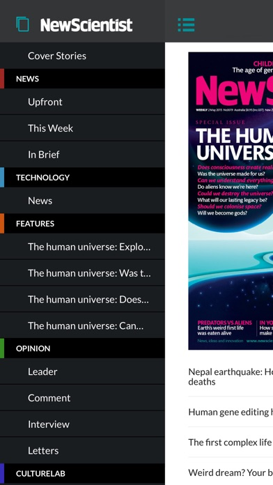 New Scientist review screenshots