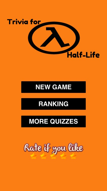 Trivia for Half-Life - FPS Video Game Free Quiz