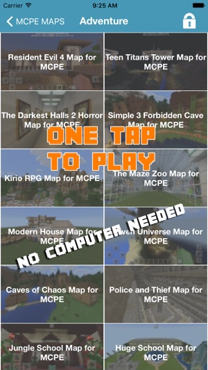 1000+ MCPE MAPS FOR MINECRAFT POCKET EDITION GAME on the App