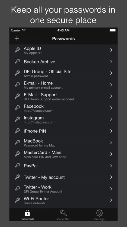 DFI Password Manager App
