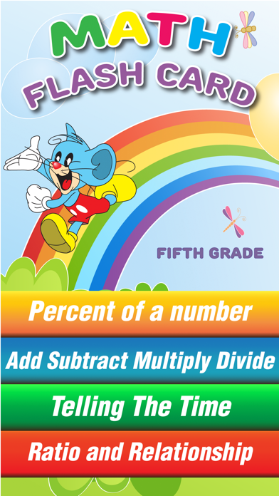Fifth Grade Mouse Basic Math Games for Kids screenshot one