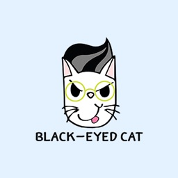 Black-Eyed Cat - Stickers for iMessage