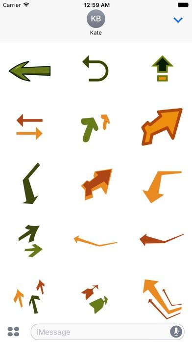 arrow stickerScreenshot von 2
