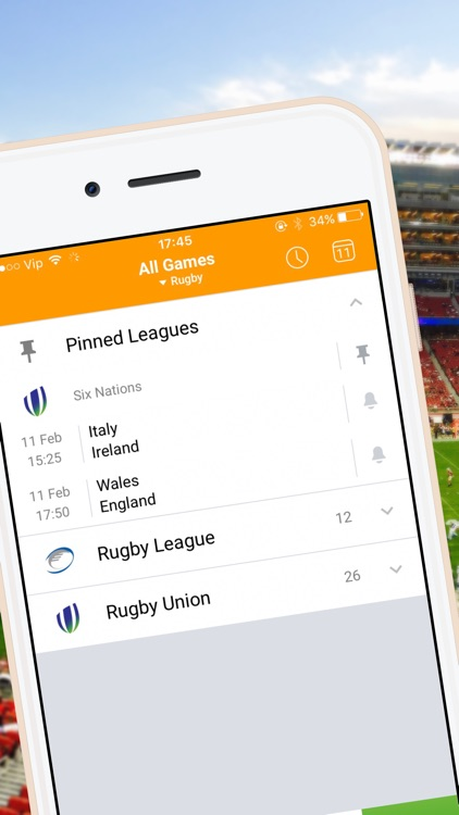 Live-Score for Rugby 6 Nations Championship 2017