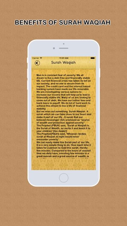 Surah Waqiah Audio Urdu - English Translation screenshot-4