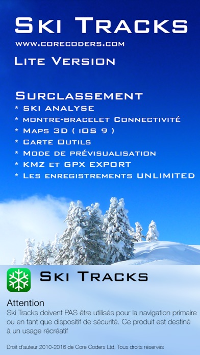 Screenshot for Ski Tracks Lite in Lebanon App Store
