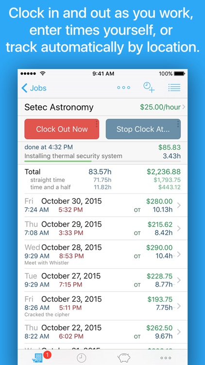 HoursTracker: Time tracking for hourly work app image