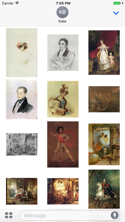 Karl Bryullov Artworks Stickers screenshot-3