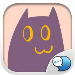 Purple Cat Stickers for iMessage