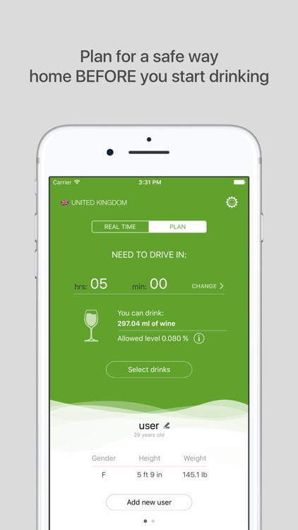 Green Light FREE - blood alcohol level calculator
