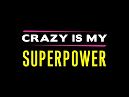 AJ Mendez Brooks Crazy Is My Superpower Stickers