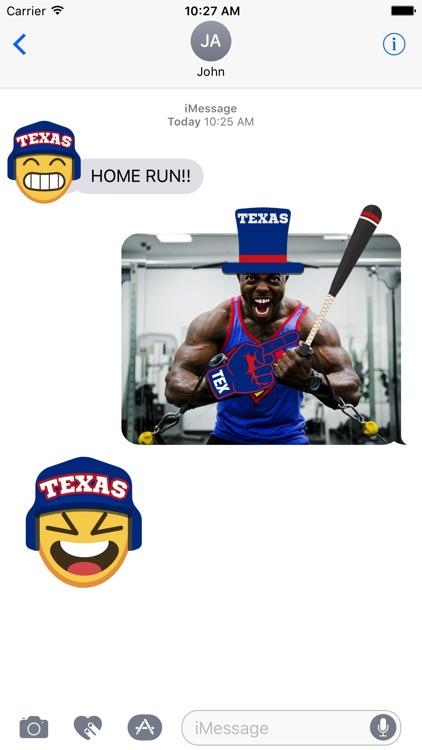 Texas Baseball Stickers & Emojis