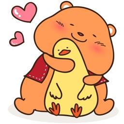 Honbee the Honey Bear for iMessage Sticker