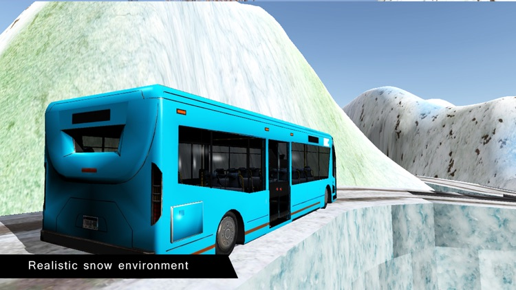 Offroad Bus Driving Simulator Winter Season screenshot-3