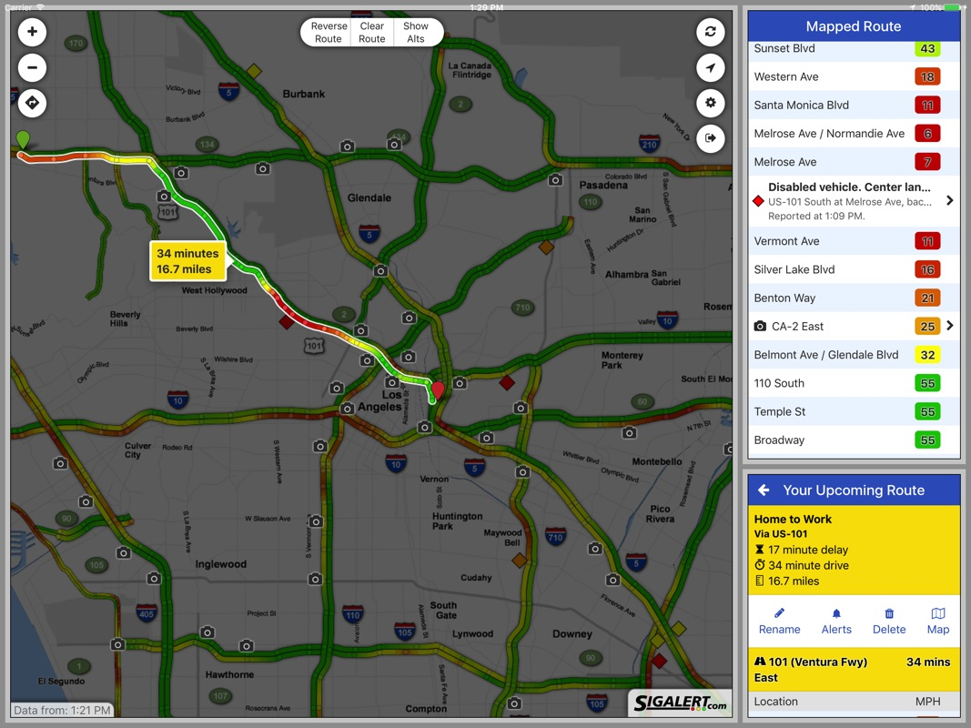 sigalert - live traffic reports - online game hack and