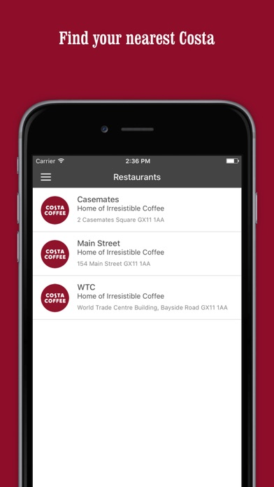 Costa Coffee - Quick Service screenshot two