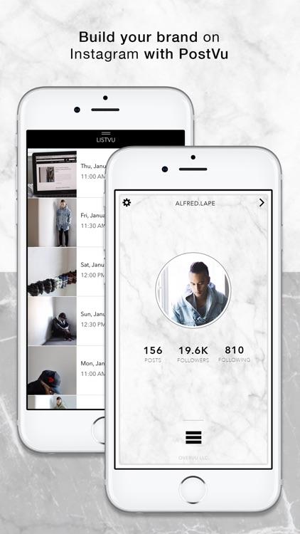 PostVu: Visual Planner & Scheduler for Instagram