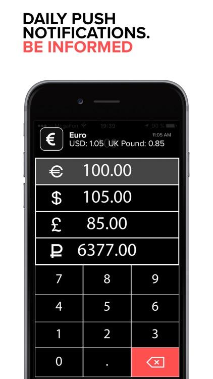 EURO exchange rate. EUR to USD, GBP, RUR. Pro screenshot-3