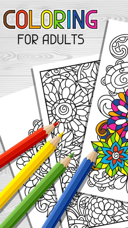 Color therapy free adult coloring books for adults by Coloring book for adults app