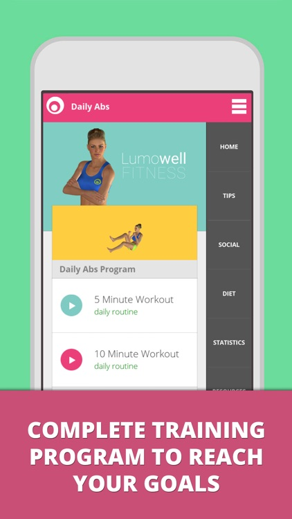 Daily ABS - Fitness Workouts - Lumowell