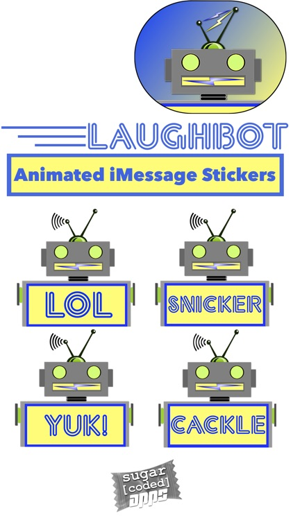 LaughBot: Animated Robot Stickers screenshot-1