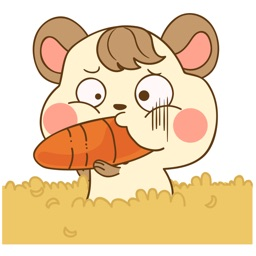 Colla the happy hamster for iMessage Sticker