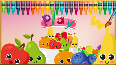 Fruit Vocab & Paint Game - Kids painting activity