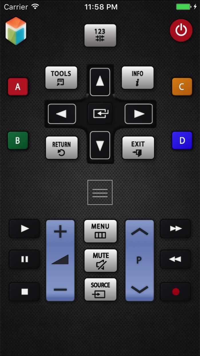 SamRemote remote for Samsung TV Screenshot