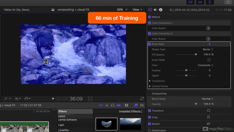 FCPX Compositing and Visual FX screenshot-4
