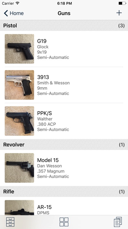 myArmsCache: Inventory Manager for Guns and Ammo
