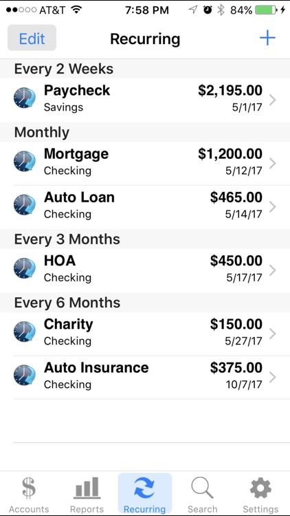 Accounts 2 Checkbook screenshot-4