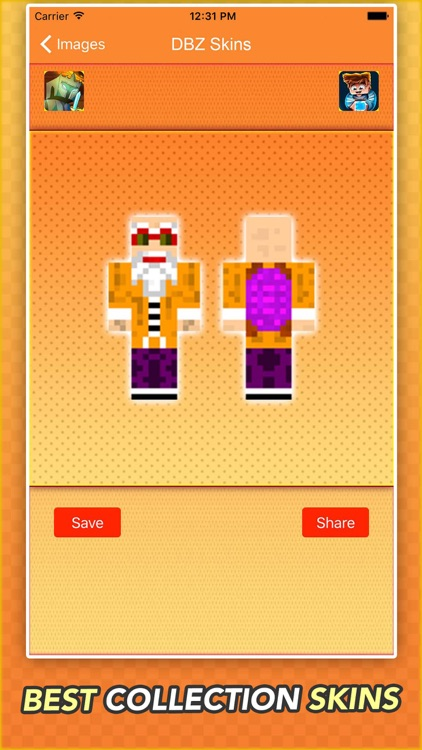 Super Skins For Dragon Ball Z Fans For Minecraft screenshot-3