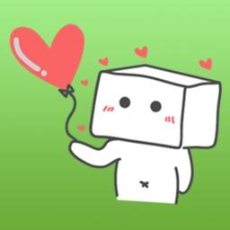 Cubeman Falling In Love Stickers