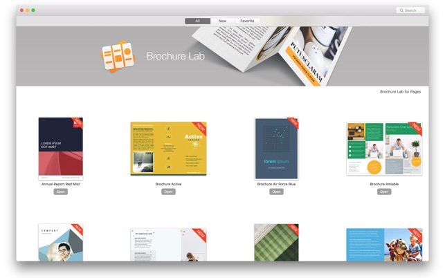 brochure lab pages templates on the mac app store