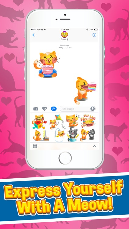 Cat Emojis - Cat Emoji Keyboard & Stickers screenshot-3