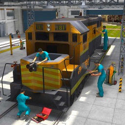 Real Train Mechanic Simulator: 3D Work-shop Garage
