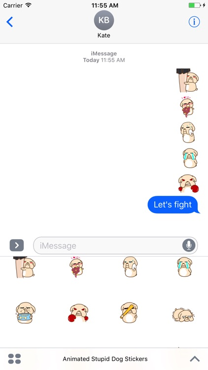 Animated Stupid Dog Stickers For iMessage screenshot-3