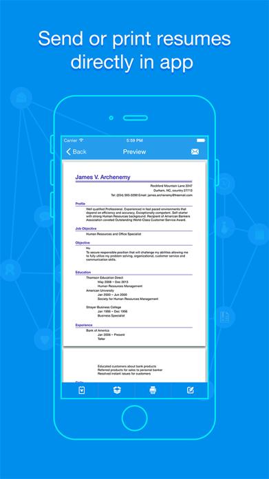 Quick Resume - Resumes Builder and Designer Screenshot