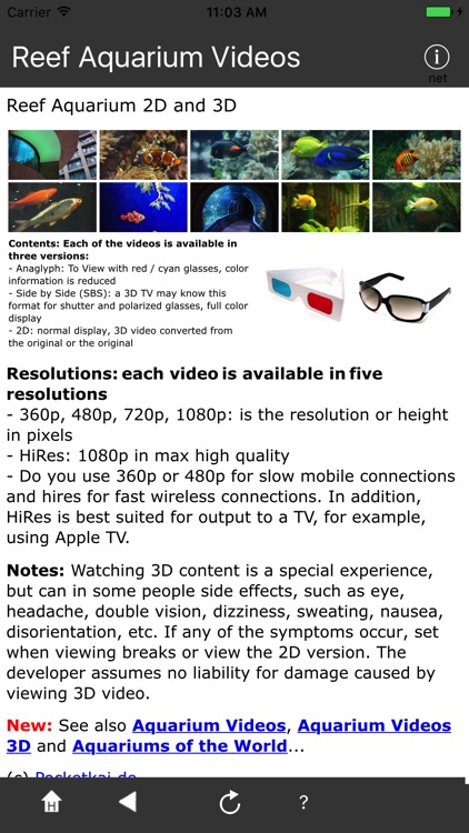 Reef Aquarium 2D/3D free screenshot-3