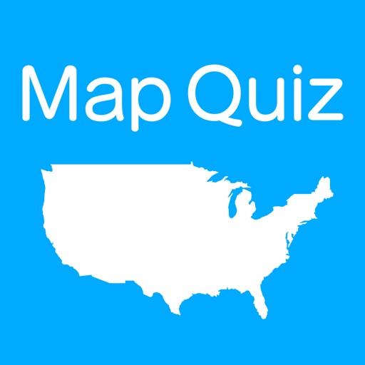 US States & Capitals Map Quiz by Kazuto Takada