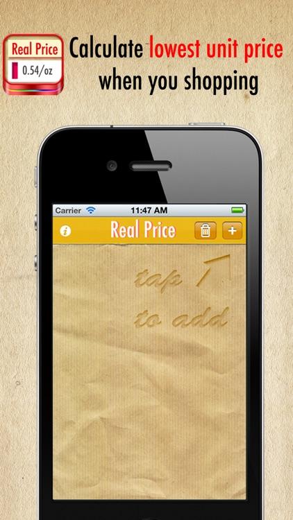 Real Price PRO ~ compare unit prices