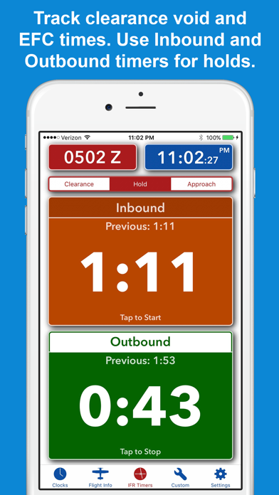 ZivTimer - Flight Timer with Zulu and World Time screenshot four