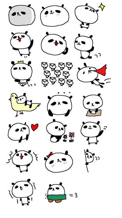 Cute Panda Stickers!!