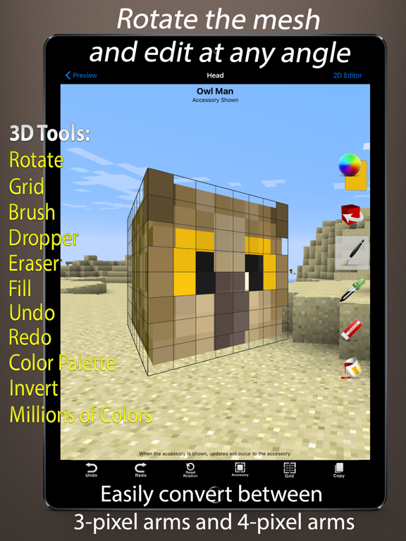 Skin Creator 3d For Minecraft By Eighth Day Software L L C Ios United States Searchman App Data Information