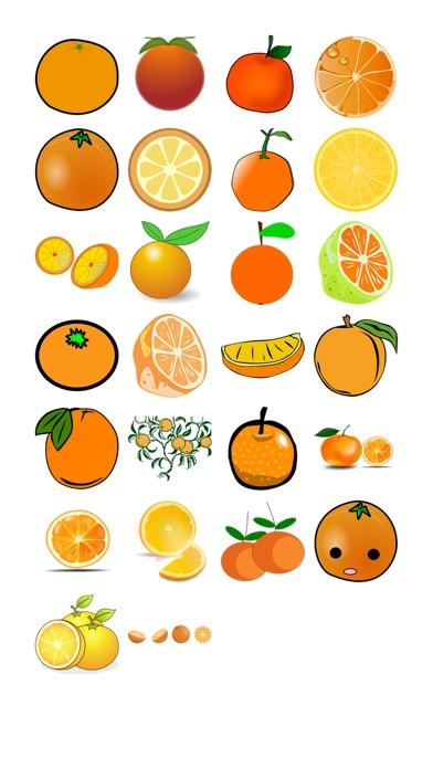 鮮橙貼紙包屏幕截圖1